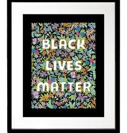 The Found Art Print: Black Lives Matter Black flower