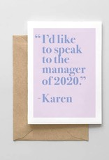 Card - Blank: Speak to the manager