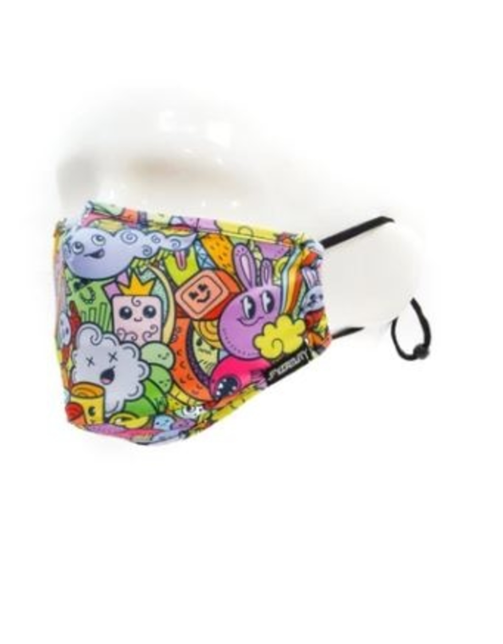 Scratchtracks Kids Face Covering Mask: Cup of Bows Monsters