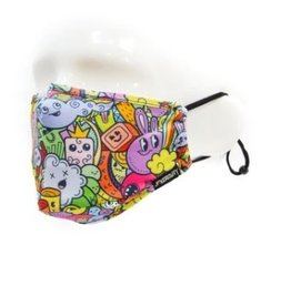 Kids Face Covering Mask: Cup of Bows Monsters