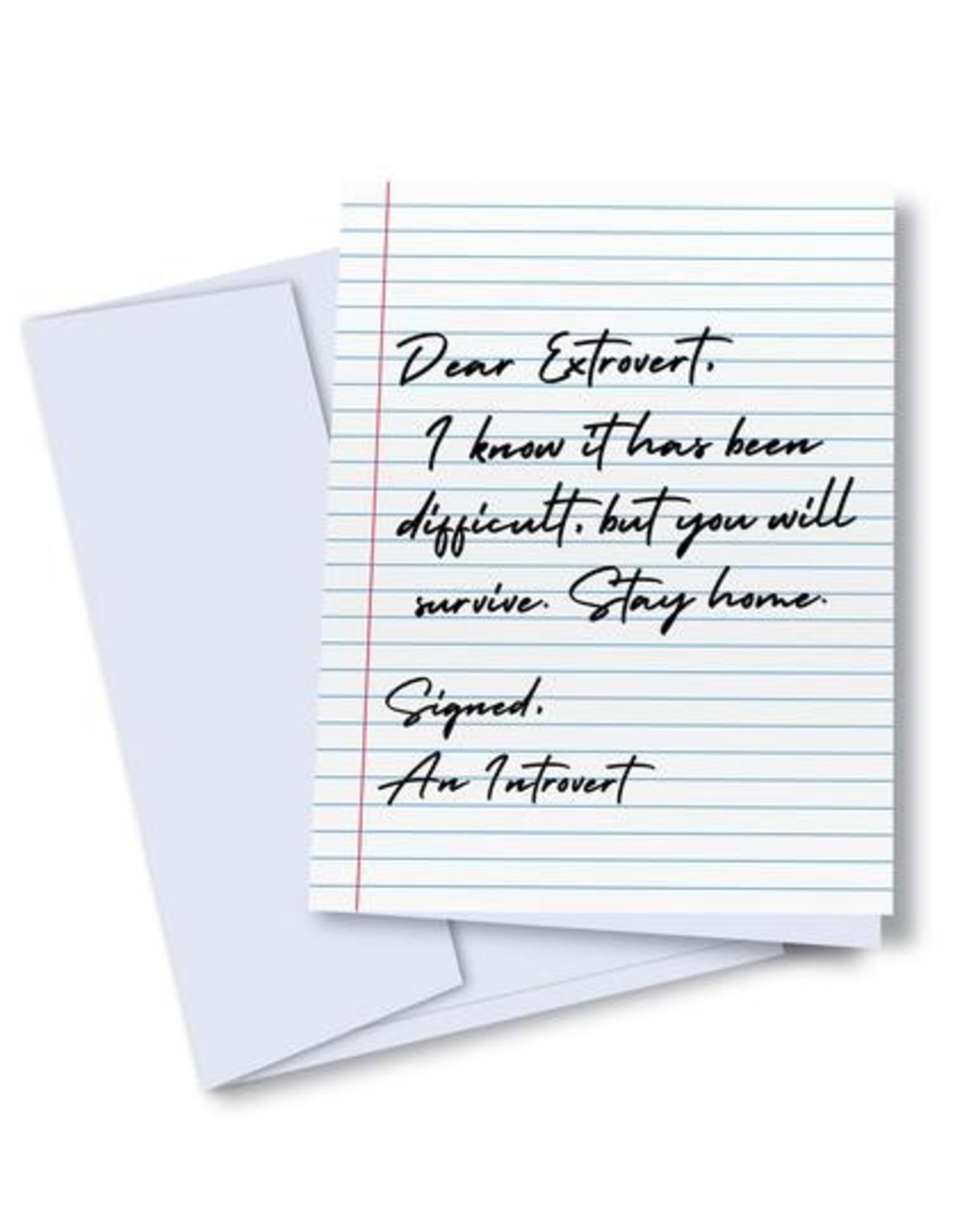 kaleidodope Card - Blank : Dear Extrovert