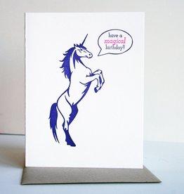 Steel Petal Press Card - Birthday: Magical Unicorn