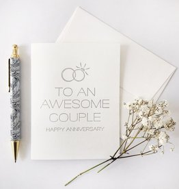 Steel Petal Press Card - Anniversary: Awesome Couple