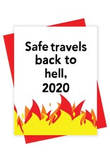 Card - Blank: Safe travels back to hell, 2020