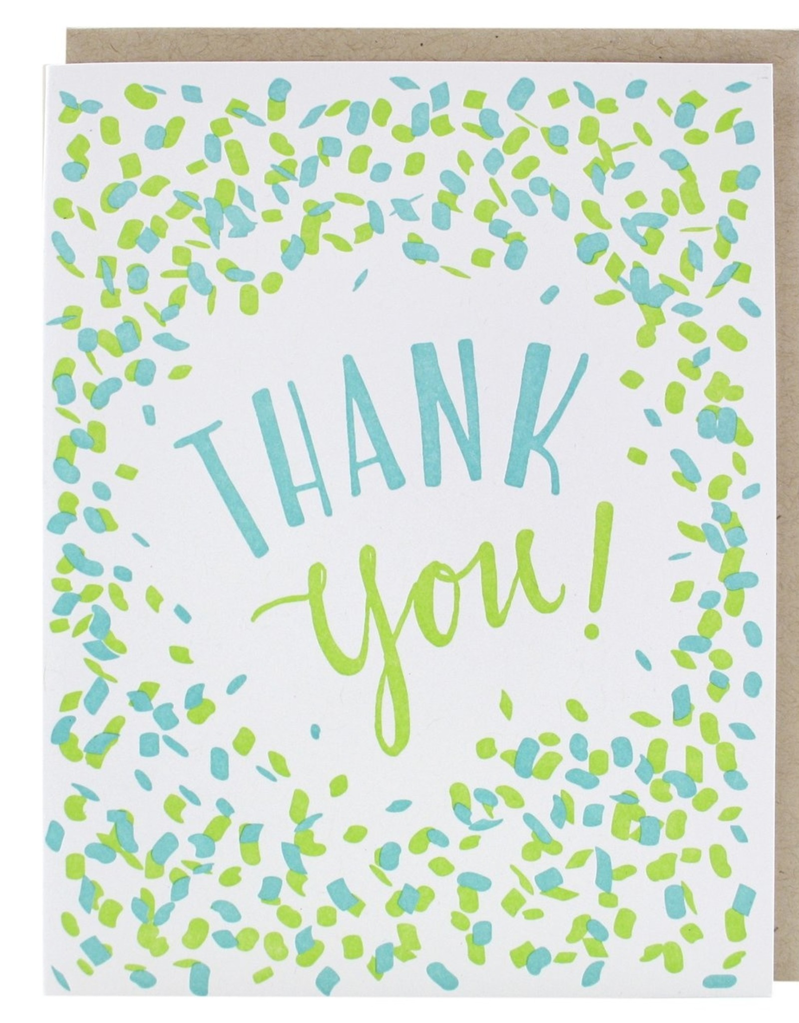 Card - Thank you: Confetti