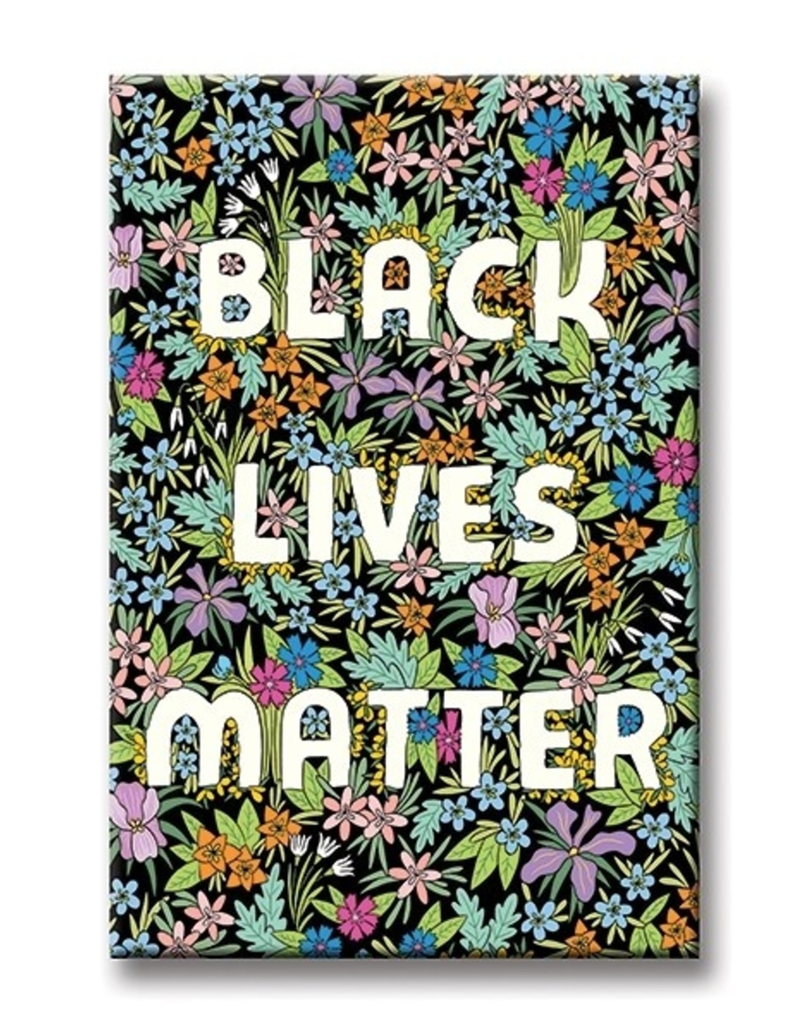 Magnet: Black Lives Matter Black flower