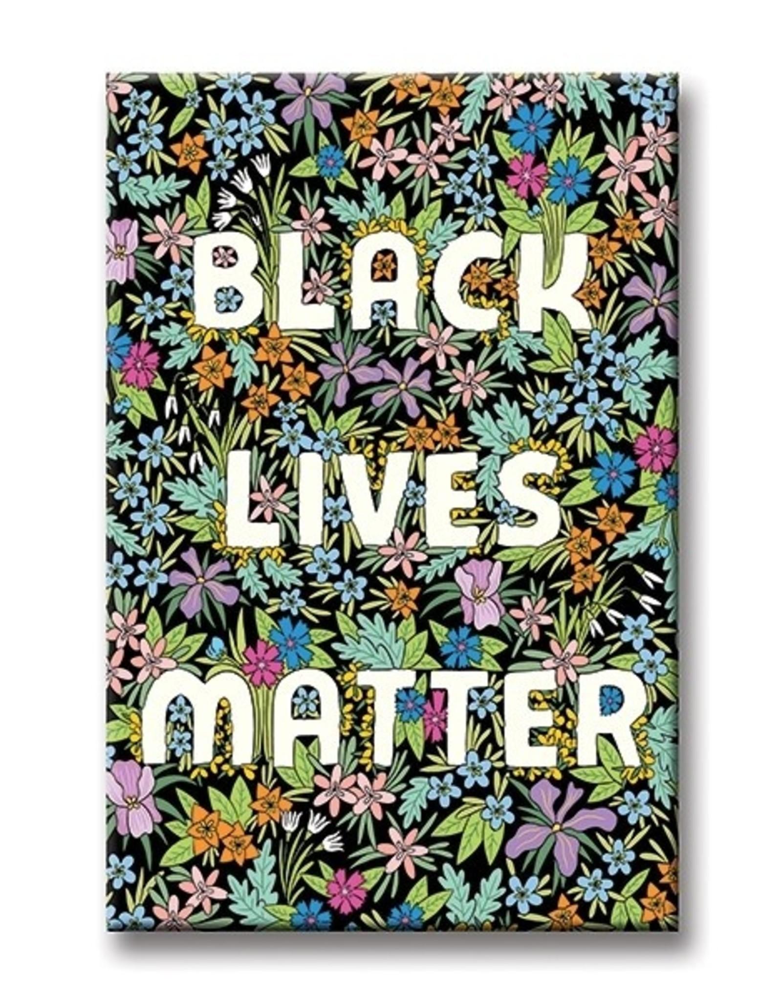 The Found Magnet: Black Lives Matter Black flower