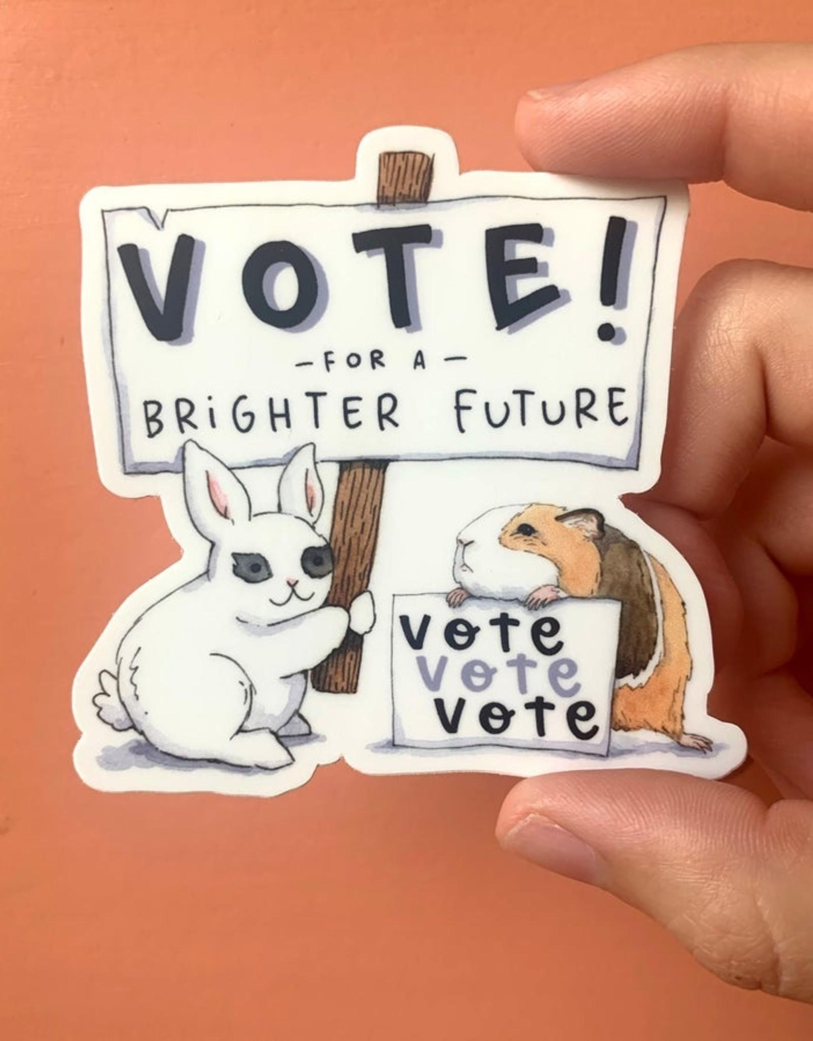 Sticker: Vote for a brighter future