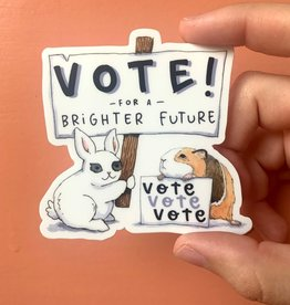 Sticker: Vote for a brighter future