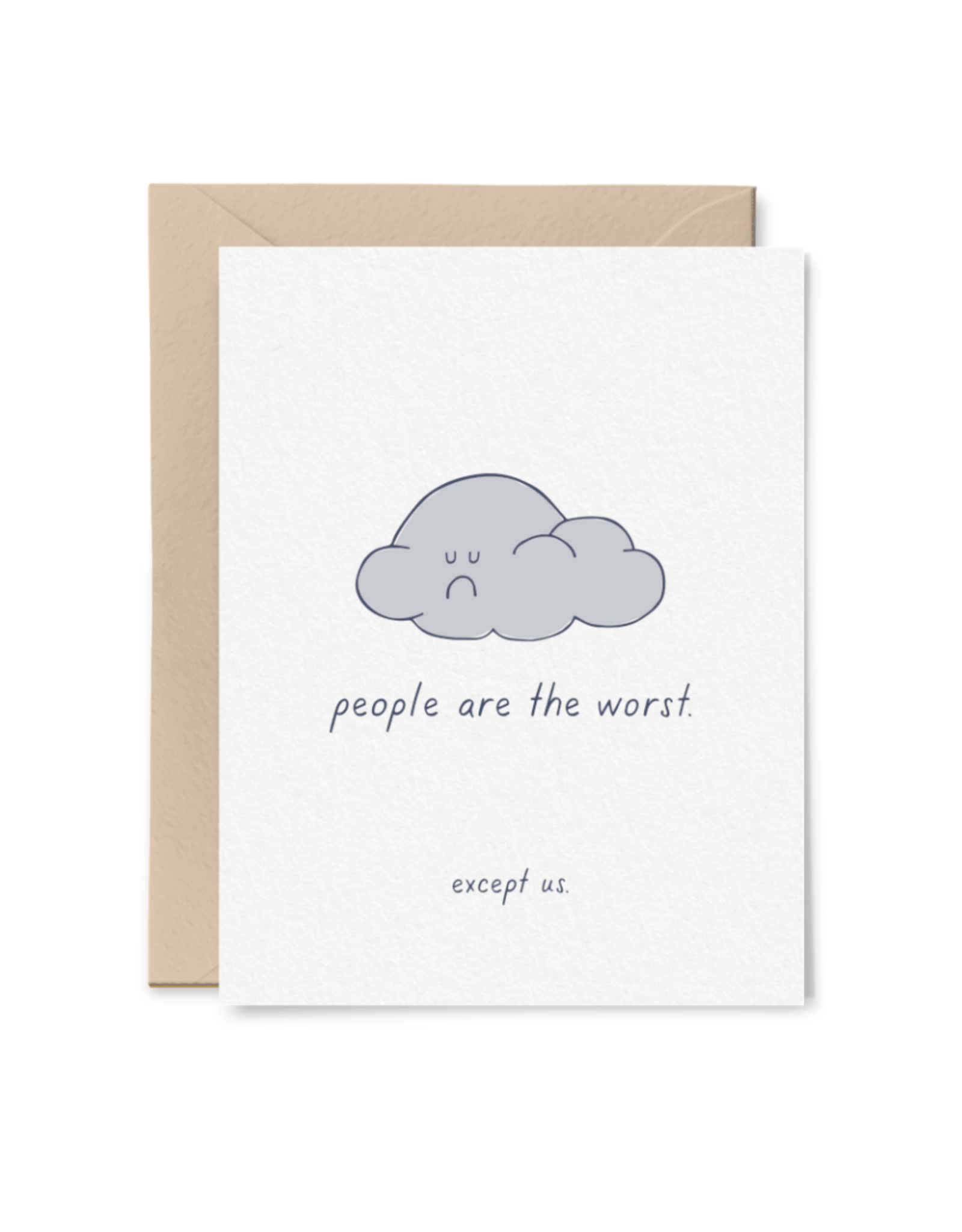 Little goat paper company Card - Blank: People are the worst