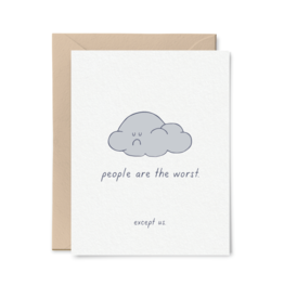 Card - Blank: People are the worst
