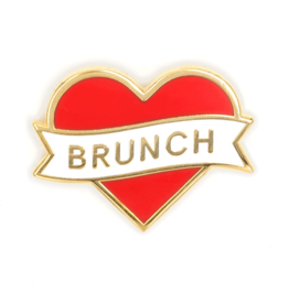 These Are Things Enamel Pin: Brunch Heart