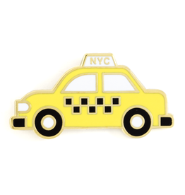 These Are Things Enamel Pin: Taxi