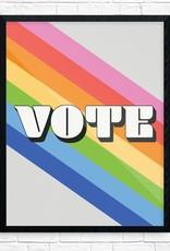 Print: VOTE Rainbow