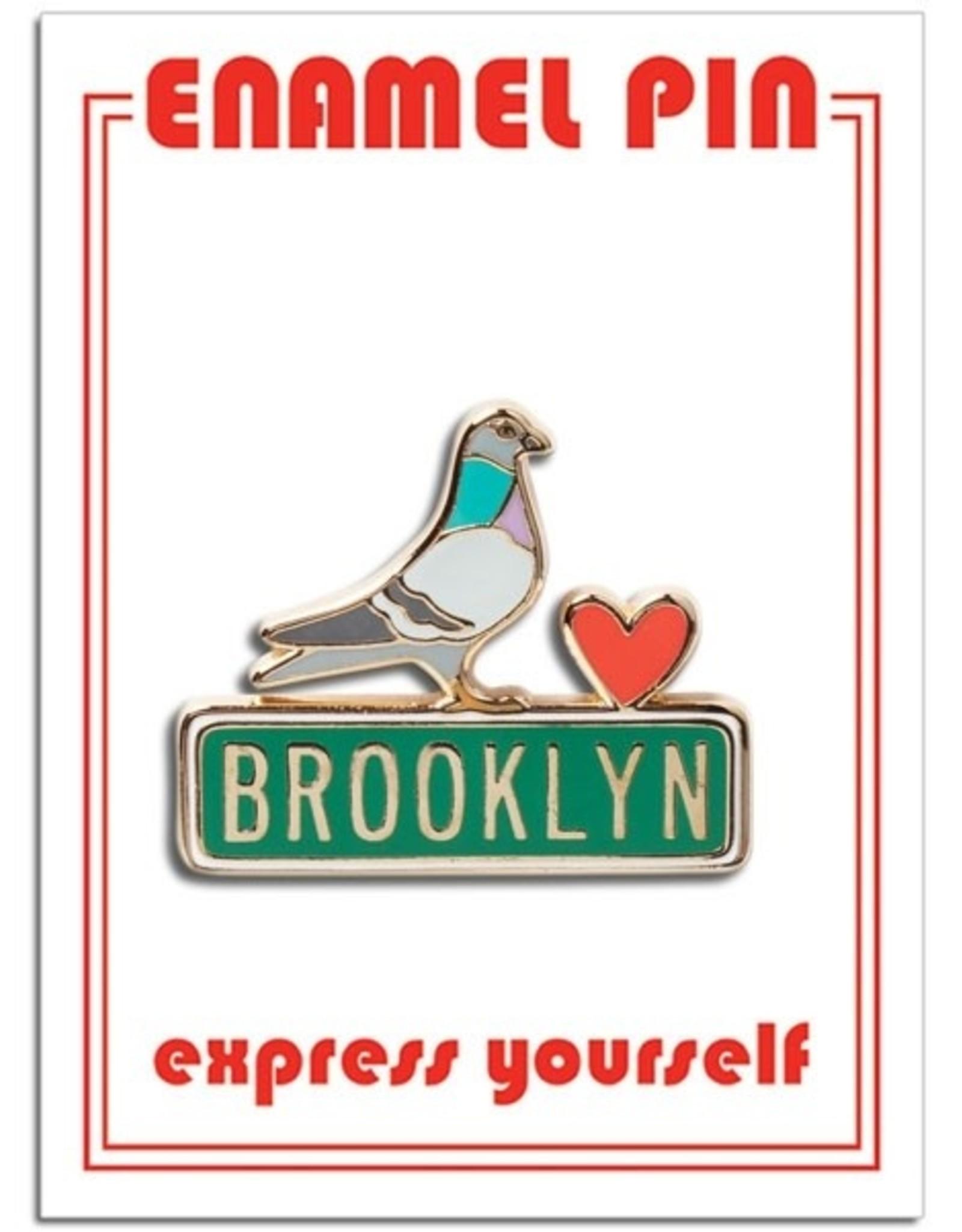 The Found Enamel Pin:  Brooklyn Pidgeon