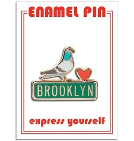 The Found Enamel Pin:  Brooklyn Pidgeon