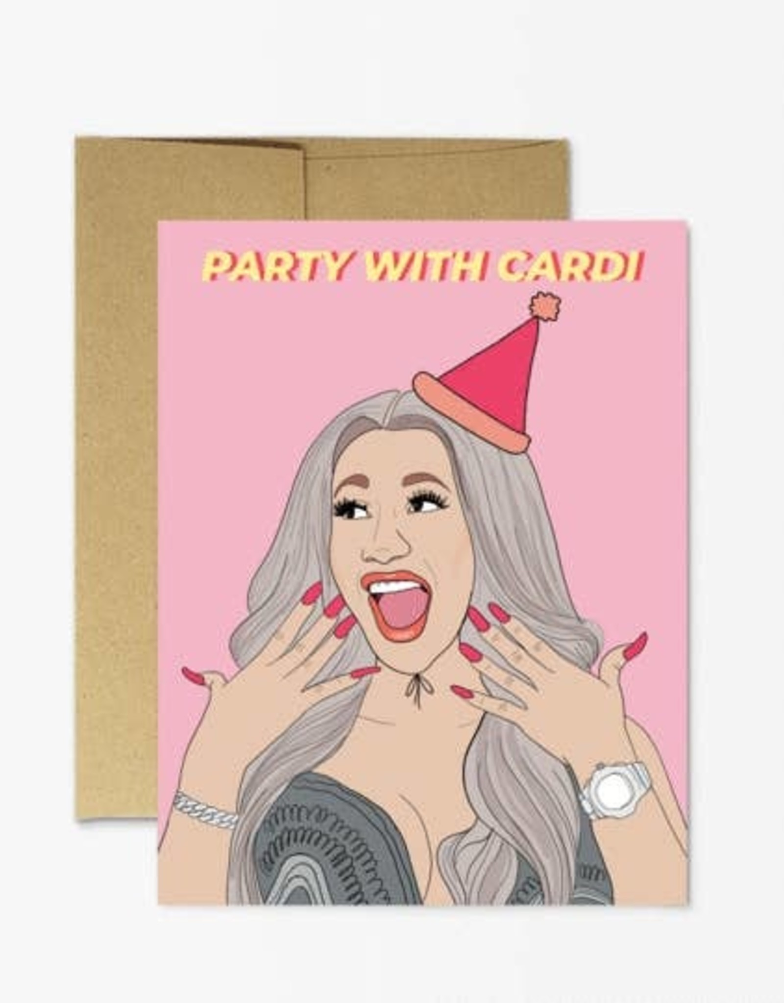 Party Mountain Paper Card - Birthday: Party with Cardi