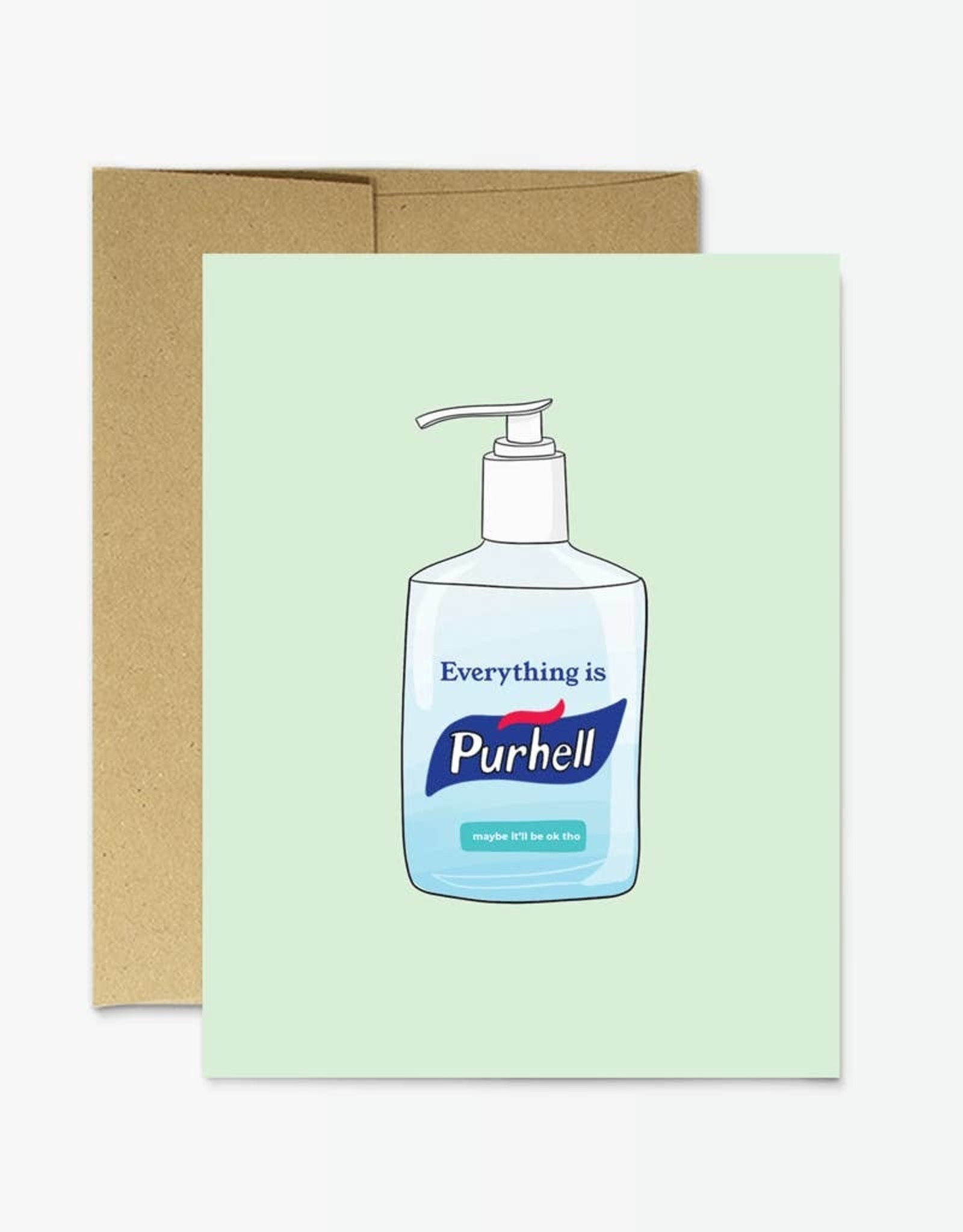 Card - Blank: Purhell