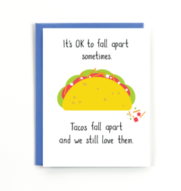 Public School Paper Co. Card - Blank: Tacos fall apart