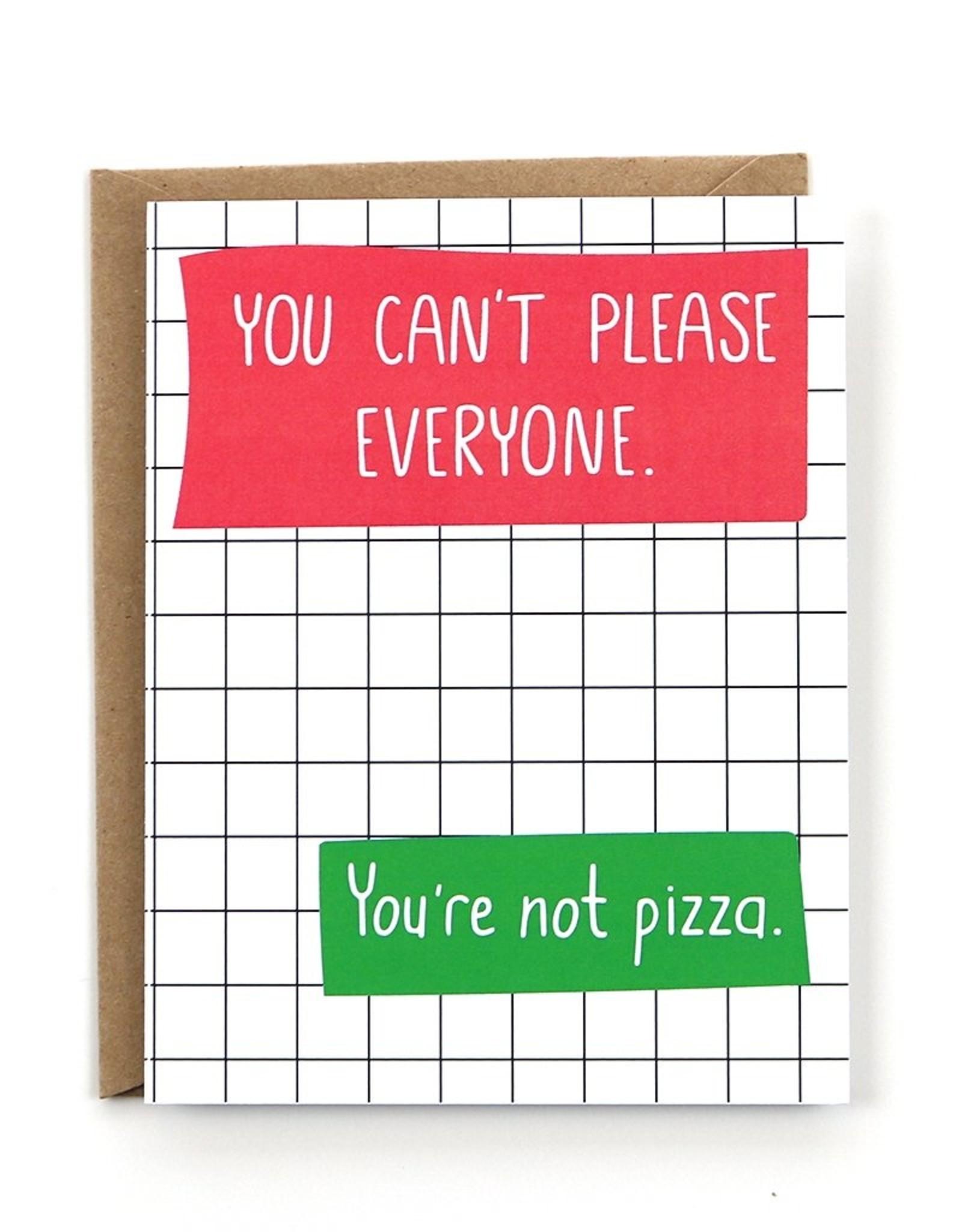 Public School Paper Co. Card - Blank: You're not pizza