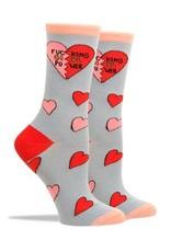 Socks:Fucking Girl Power Heart