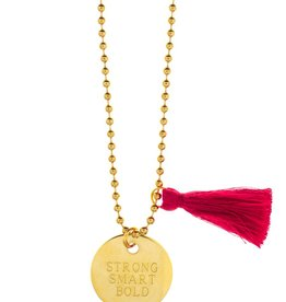 Charm Necklace Strong, Smart, Bold