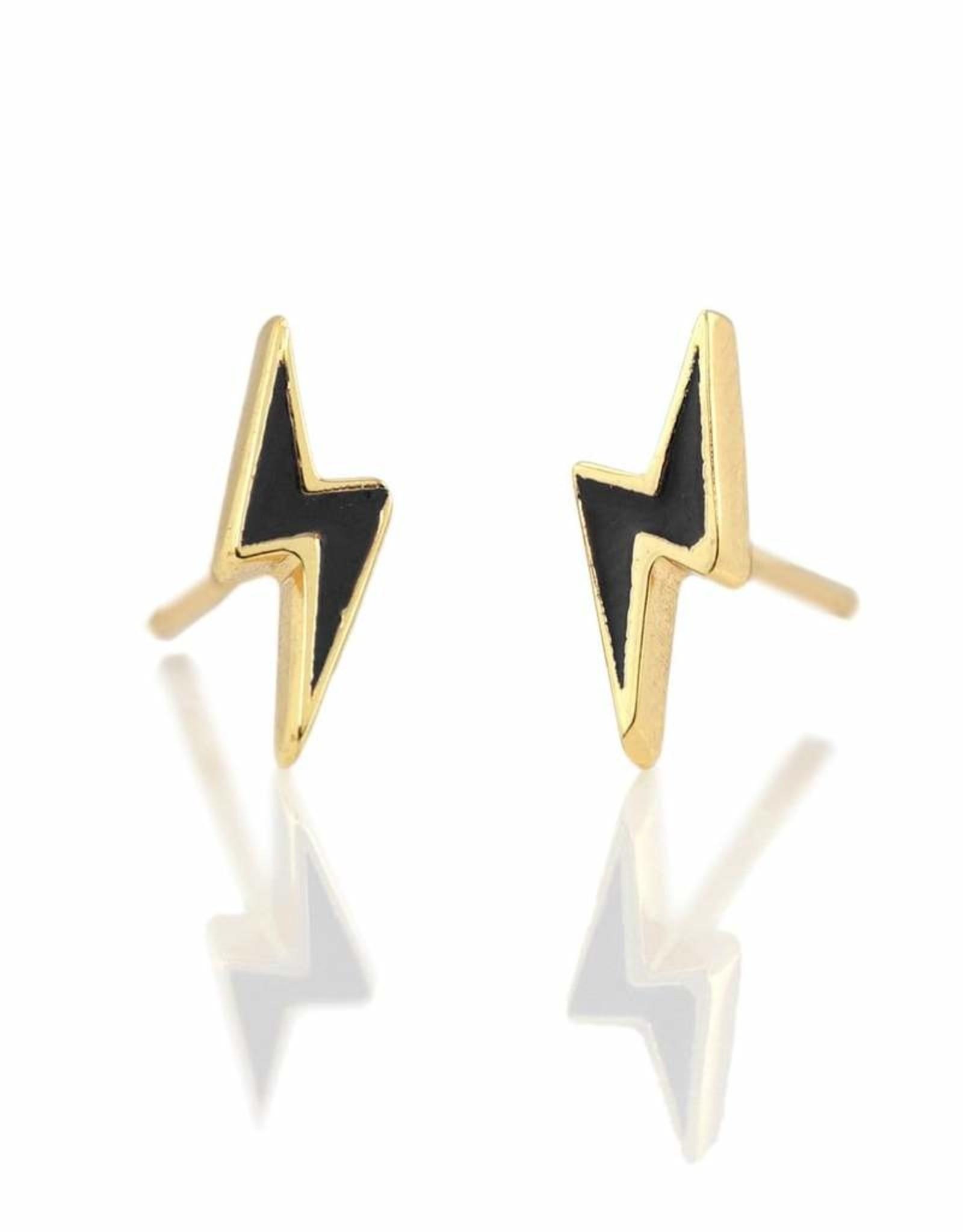 Stud Earrings - Enamel lightning bolt