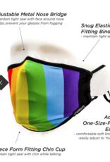 Scratchtracks Adult mask: PRIDE Rainbow
