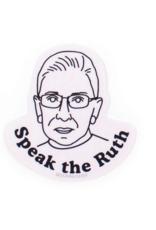 Seltzer Goods Sticker RBG: Speak the Ruth