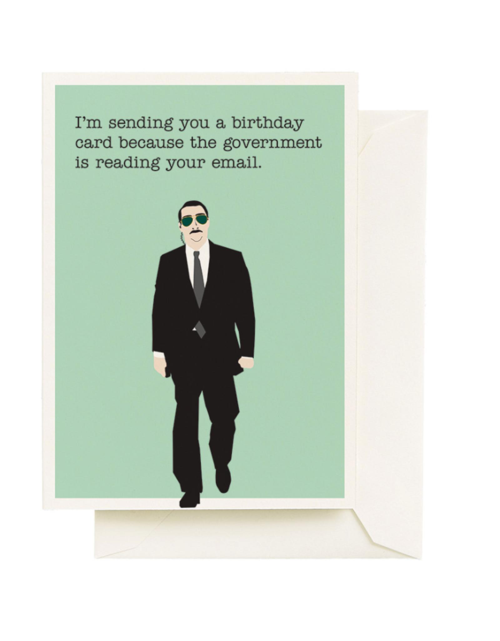 Card - Birthday: Govt Spy