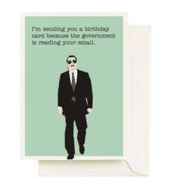 Seltzer Goods Card - Birthday: Government Spy