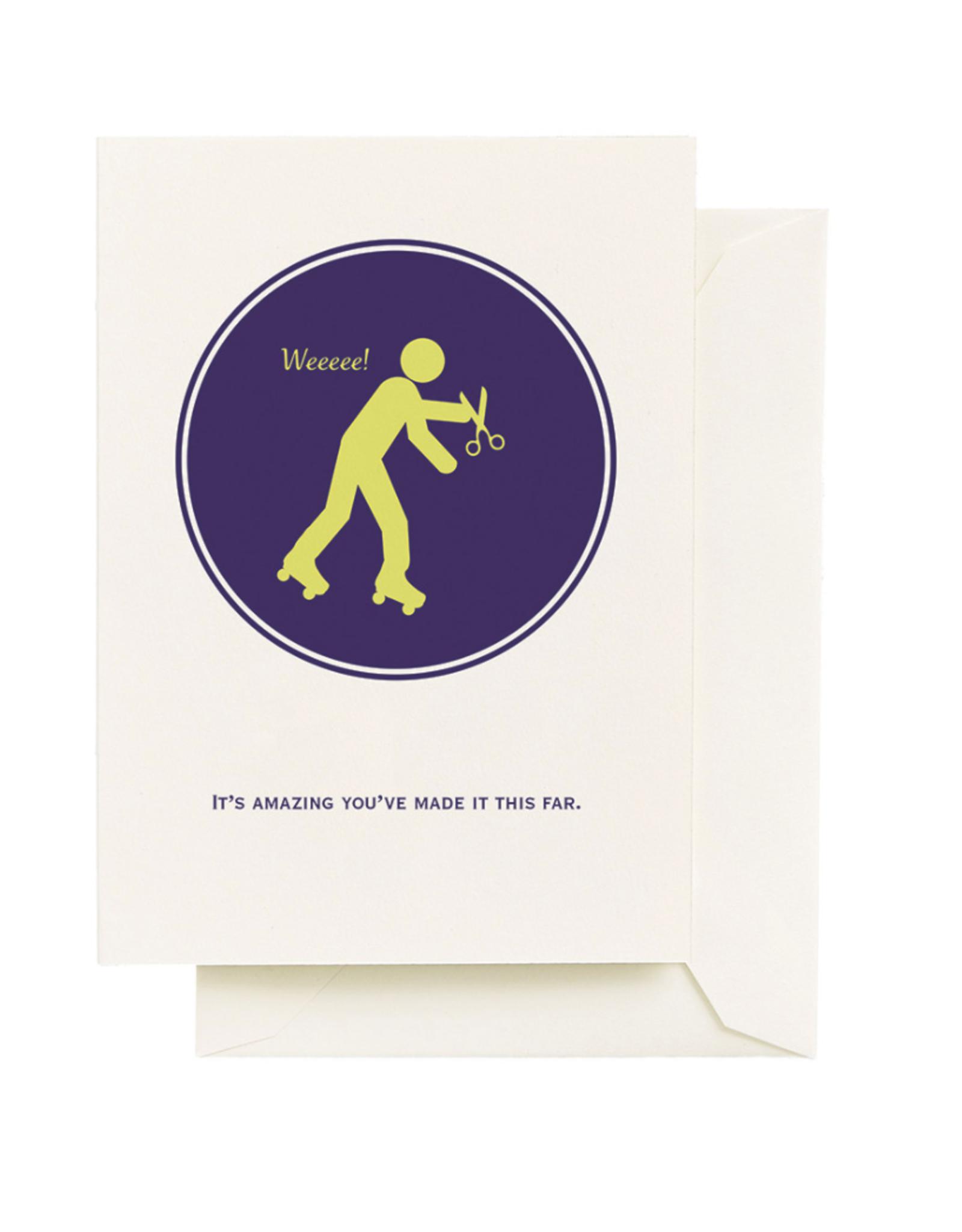 Card - Birthday: Scissors