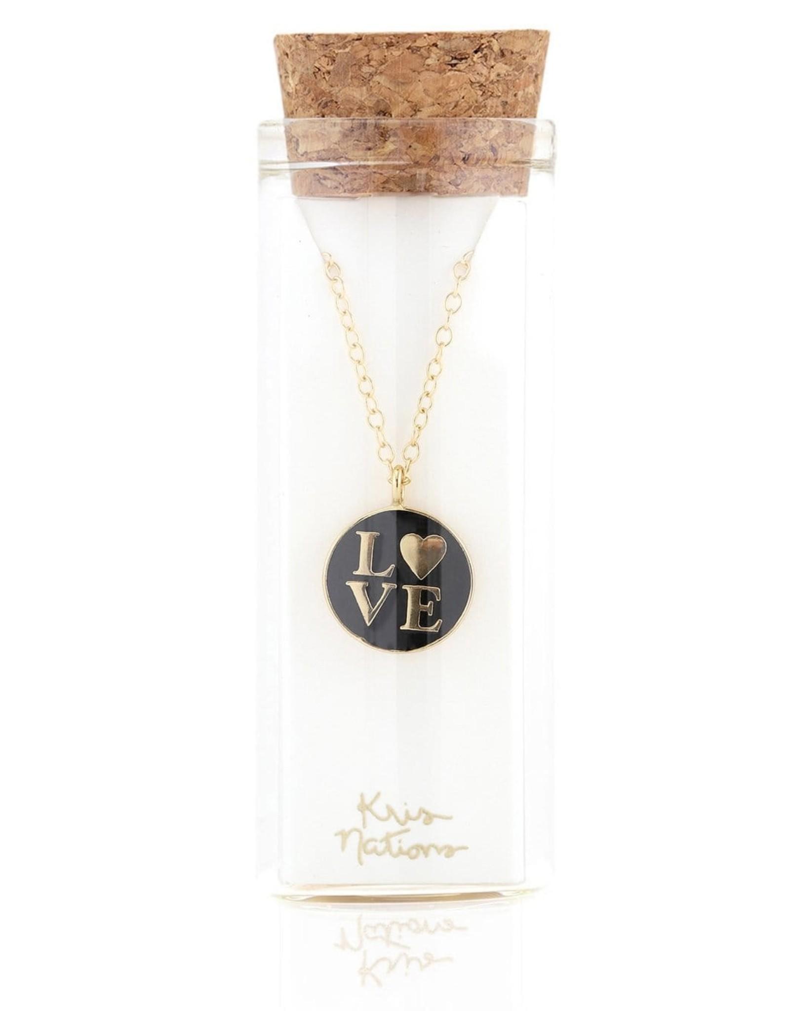 Necklace: Love Enamel charm necklace