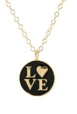 Kris Nations Necklace: Love Enamel charm necklace
