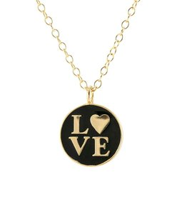 Necklace: Love Enamel charm necklace