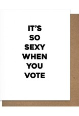 Card - Blank: Sexy when you vote
