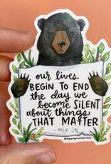 Sticker: MLK Bear