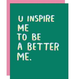 Card - Blank: You inspire me