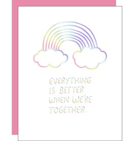 Card - Love: Everything is better rainbow