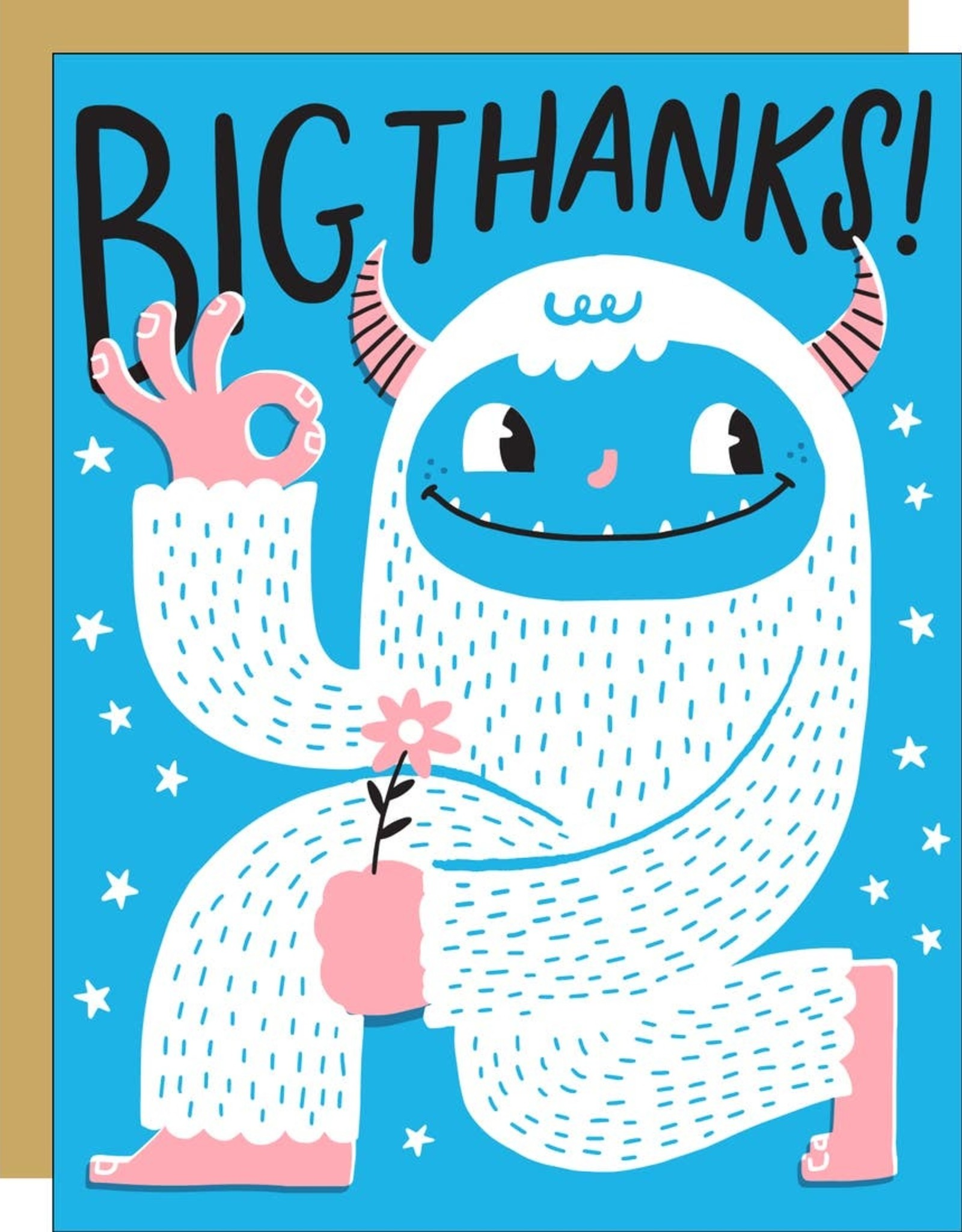 Egg Press Manufacturing Card - Thank you: Big thanks