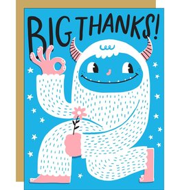 Egg Press Manufacturing Card - Thank you: Big thanks