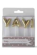 Party Candle: Yay gold
