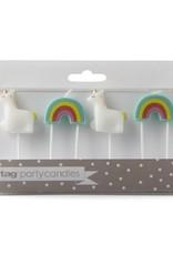 Party Candle: Unicorn and rainbow set
