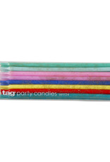 Tag Party Candles: Tall Colorful