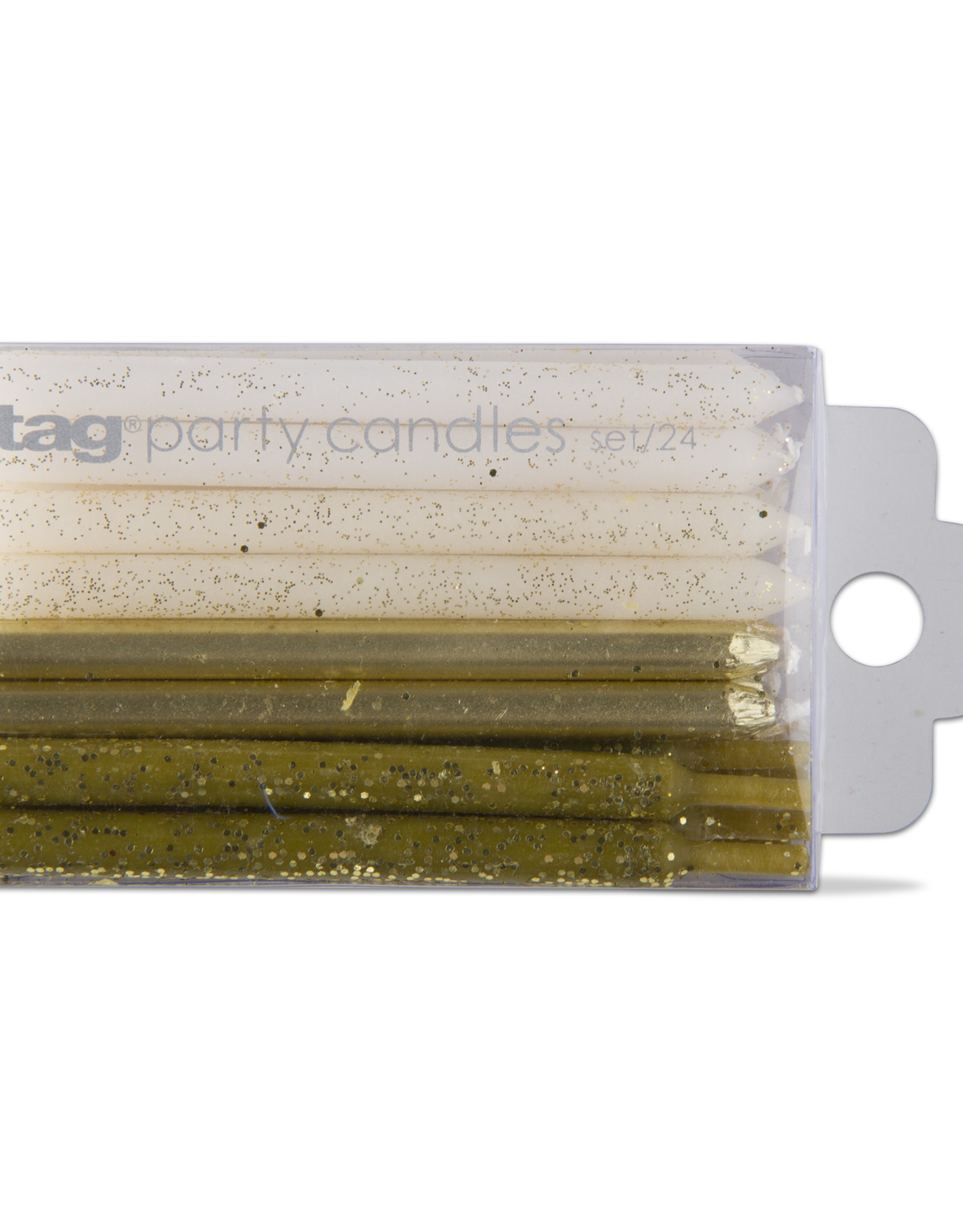 Tag Party Candle: short gold