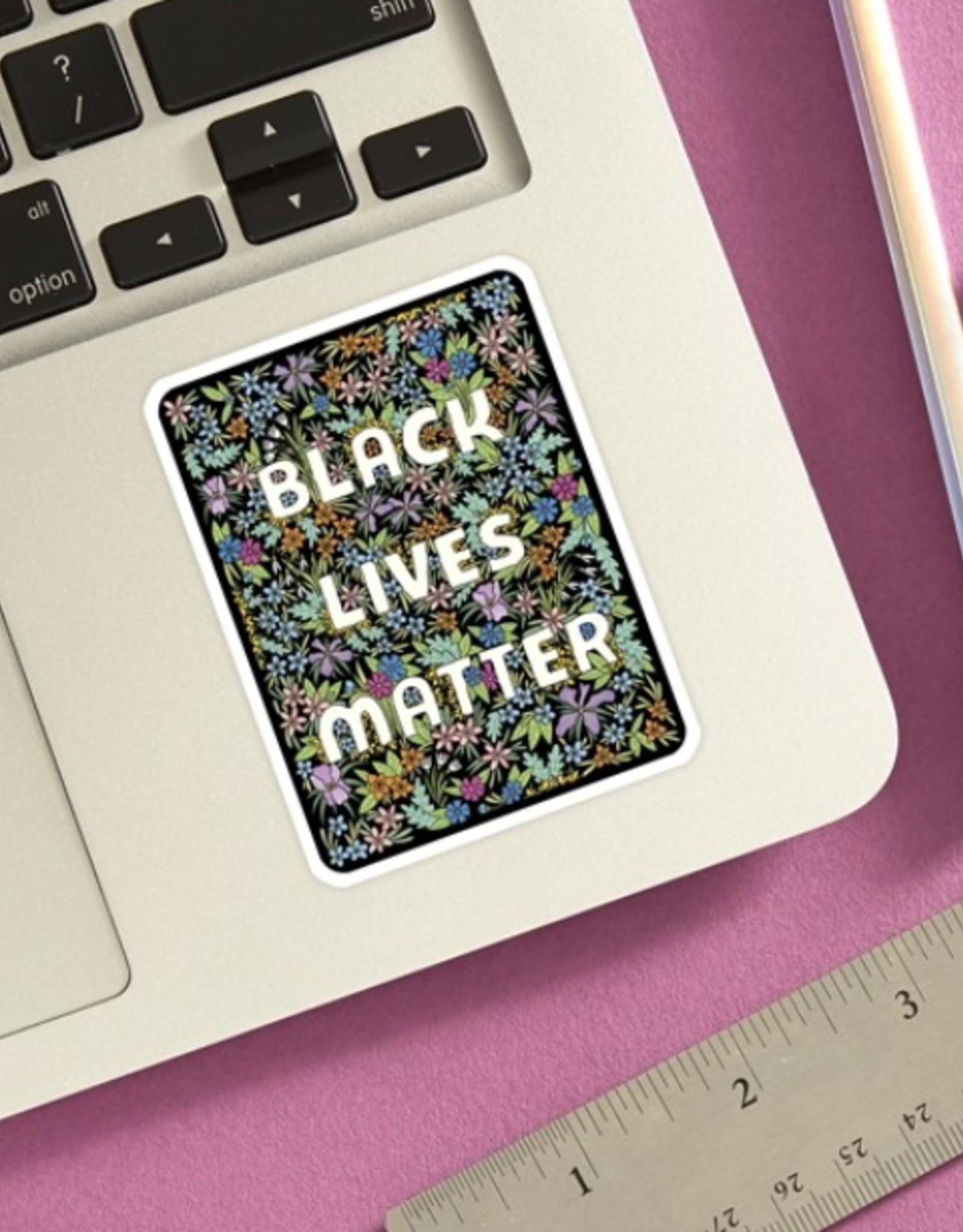 The Found Sticker: Black Lives Matter Black flower