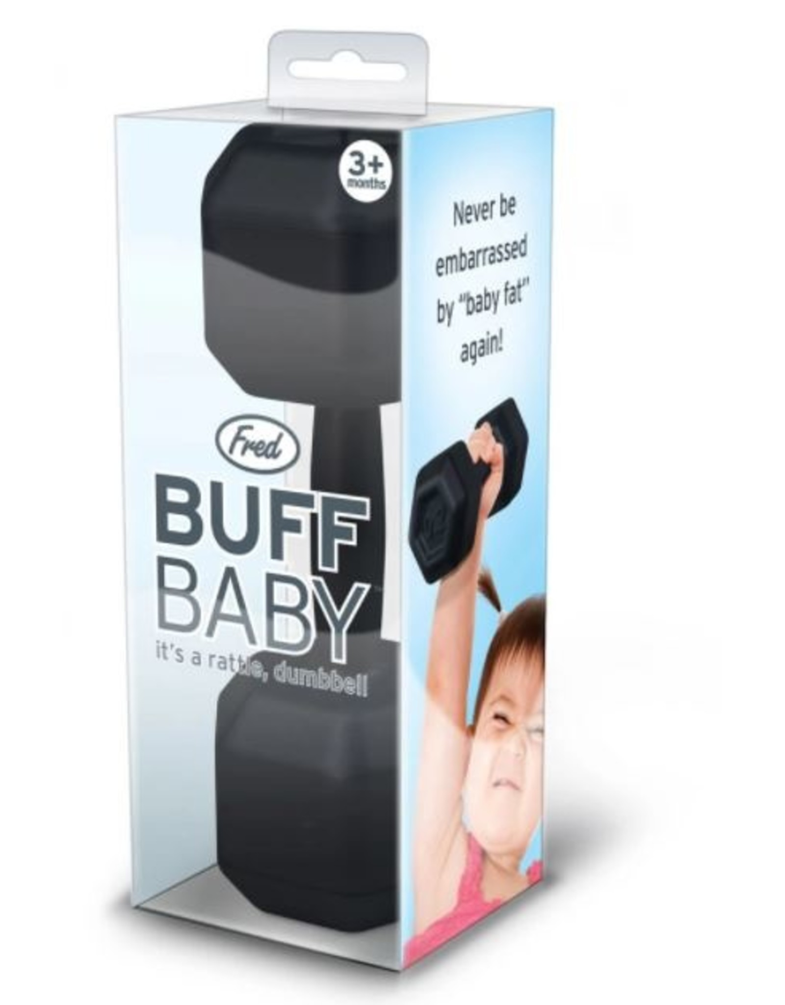Fred and Friends Buff Baby Dumbbell Rattle