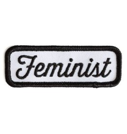 Feminist Patch (black and white)