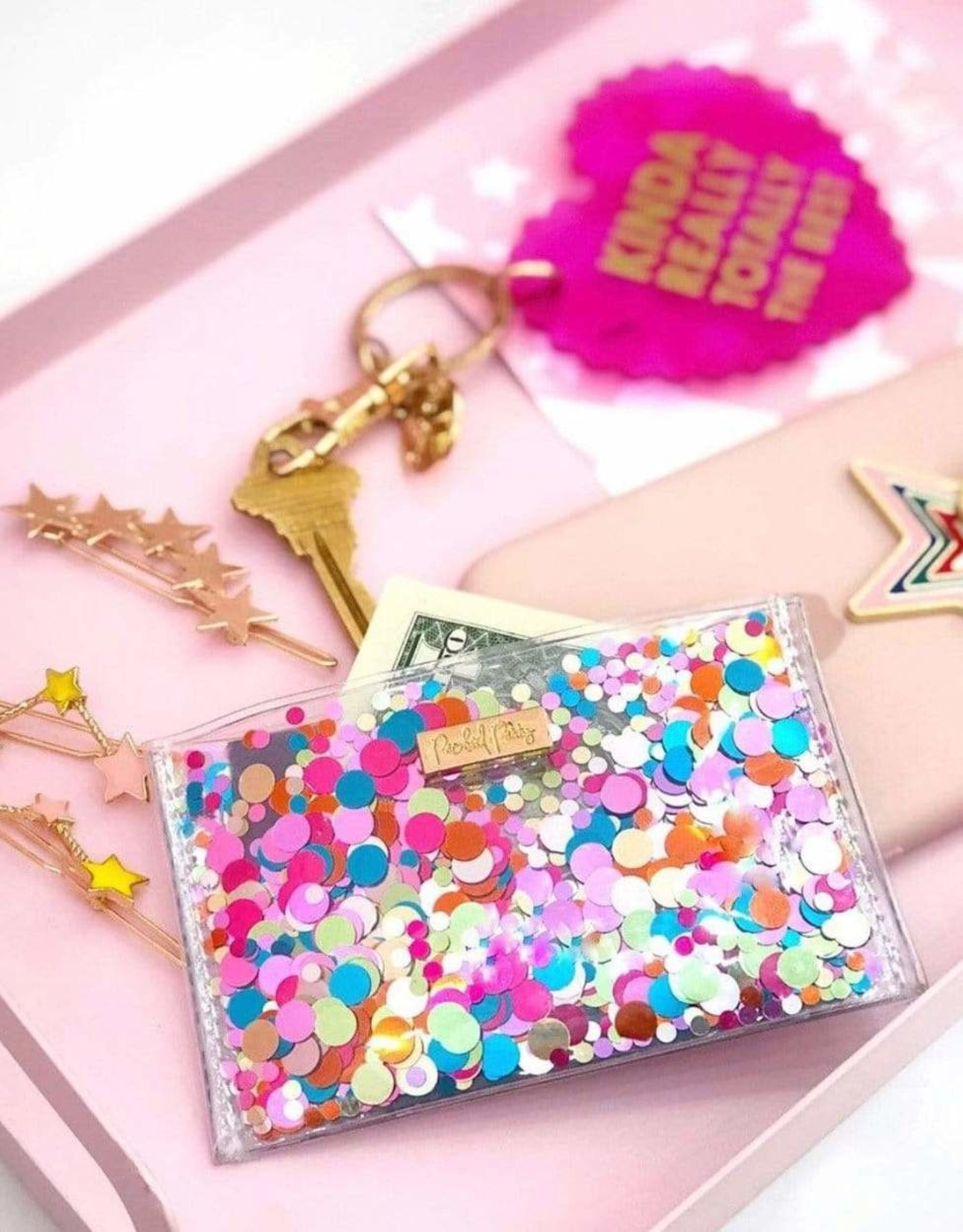 Packed Party Wallet: Confetti card holder