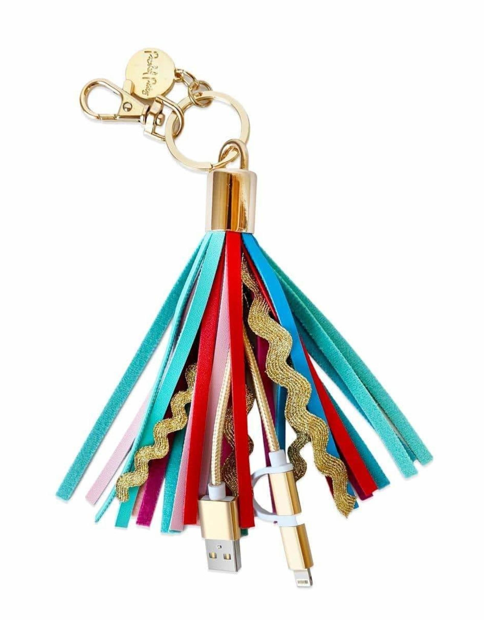 Tassel Charging Chord Keychain